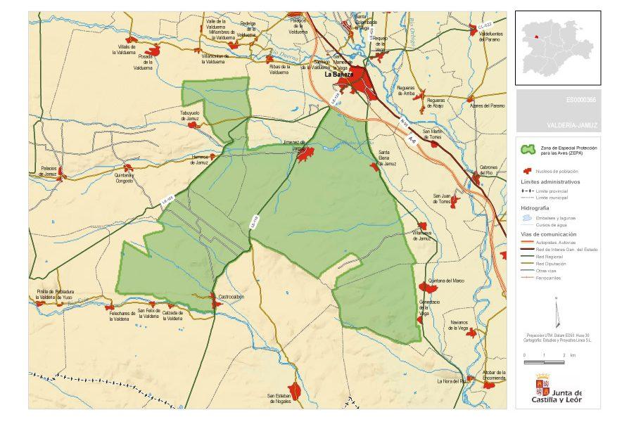 mapa municipio Santa Elena de Jamuz